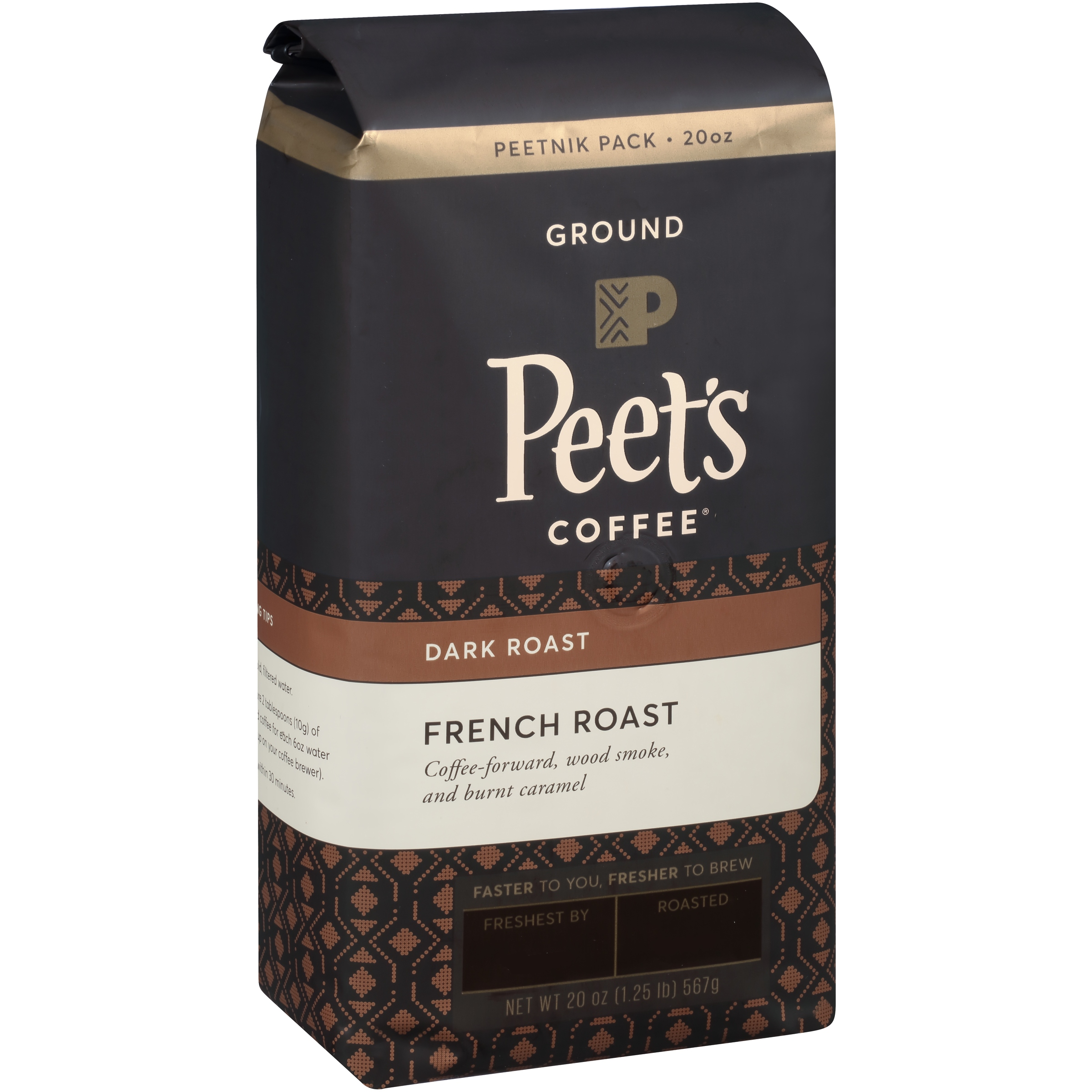 Peet's Coffee® French Roast Dark Roast Ground Coffee 20 oz. Stand Up Bag