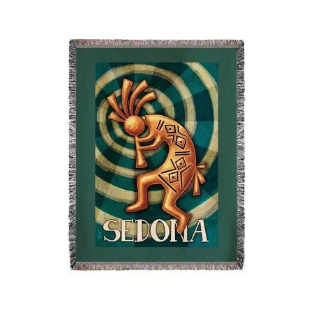 Kokopelli Blanket (Sedona, Arizona - Kokopelli - Lantern Press Artwork (60x80 Woven Chenille Yarn Blanket) )