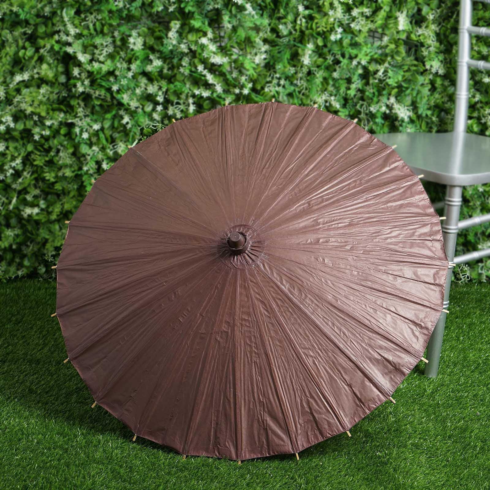 BalsaCircle Paper Parasol Umbrellas - Wedding Party Favors Centerpieces Decorations Cheap Supplies