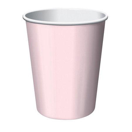 Club Pack of 192 Classic Baby Pink Disposable Paper Hot and Cold Drinking Party Cups 9oz. (Pink Party Cups)