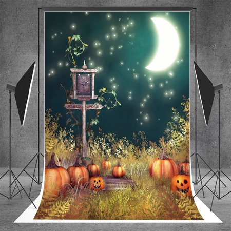 HelloDecor Polyester Fabric 5x7ft Photography Backgrounds Horror Trees Trail Halloween Themed Photo Backdrop](Organ Trail Halloween)