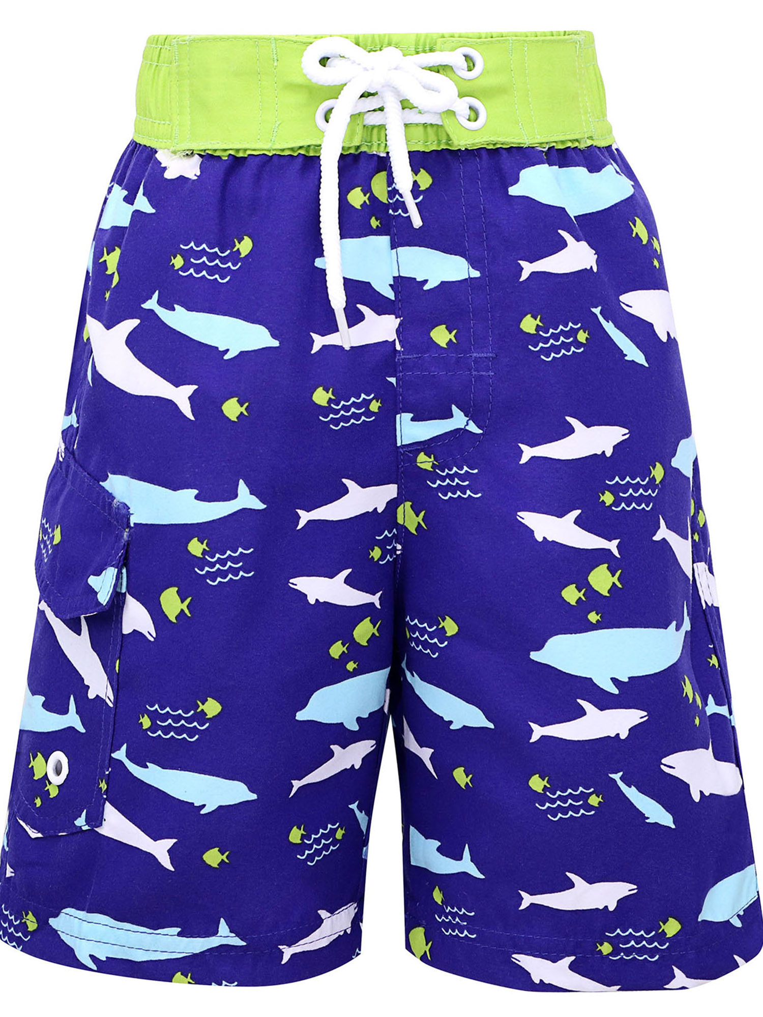 Fast Drying Summer Kids' Swim Trunks w/UPF 50+ Sun Protection, Shark