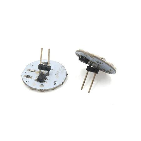 6pcs 24 LED Ampoule Lampe Tableau Bord Panneau 12V G4 Blanc Chaud - image 3 de 3