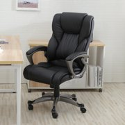 Belleze High Back Executive Office Chair Ergonomic Task Computer Swivel Tilt Lumber Support Faux Leather Desk, Black