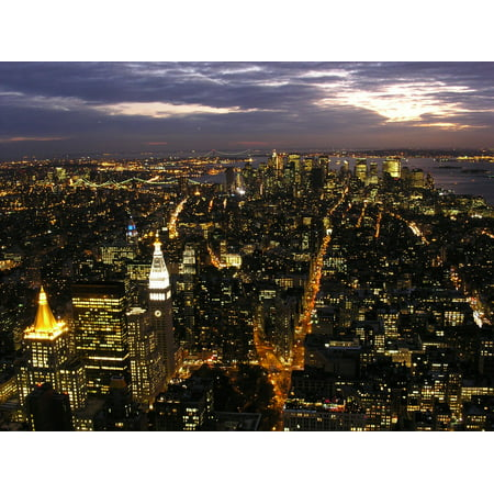 Laminated Poster Skyline New York City Manhattan USA New York Poster Print 11 x 17