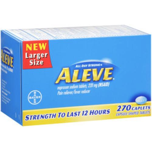 Aleve Pain Reliever/Fever Reducer Caplets 270 Caplets (Pack of 4)