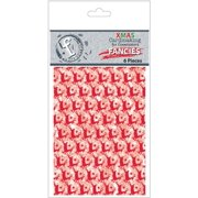 Fundamentals Fancies Transparencies 2.5X3.5 6/Pkg-Christmas Red Foiled Multi-Colored