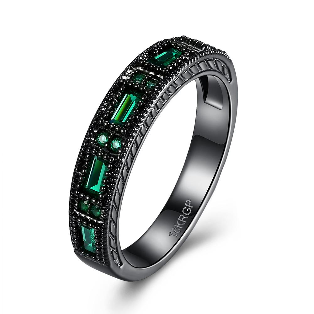 Aventura Jewellery Swarovski Crystal 18K Black Gold Plated Ring by Overstock