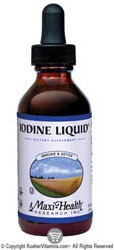 Maxi Health Kosher Iodine Complex (Potassium Iodide) Liquid 2 OZ by