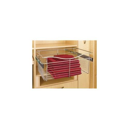 Rev A Shelf Rscb. 241411Sn. 5 24 inch W X 14 inch D X 11 inch H Wire Pull-Out Baskets - Satin Nickel