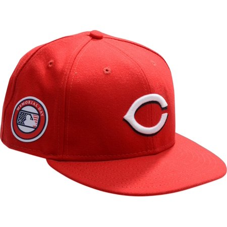 Curt Casali Cincinnati Reds Game Used 12 Red Cap With Memorial