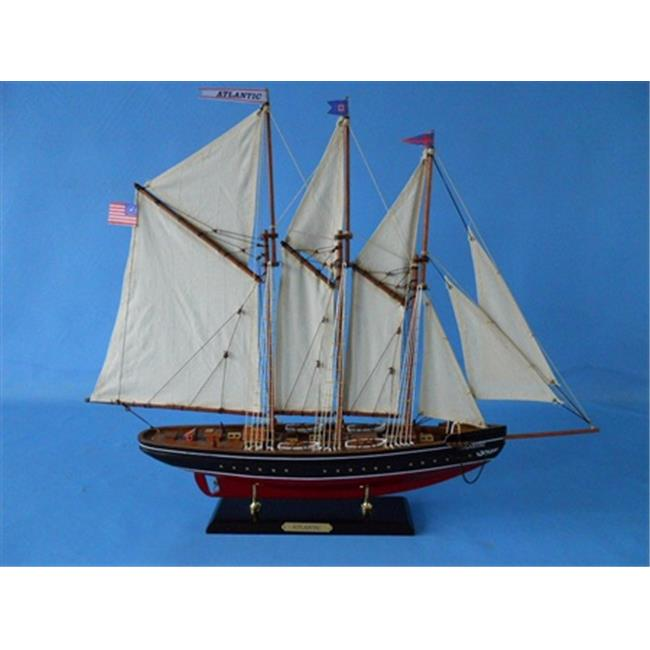 Handcrafted Model Ships D0104 Atlantic Limited 25 inch Decorative Sail Boat by Handcrafted Model Ships