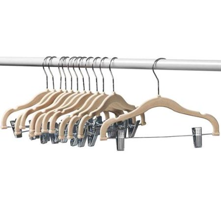 12 Pack Baby Hangers With Clips Ivory Baby Clothes Hangers