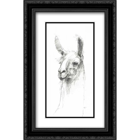 - Bianca Pencil 2x Matted 16x24 Black Ornate Framed Art Print by Tillmon, Avery