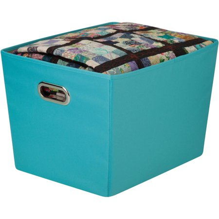 Honey Can Do Large Decorative Storage Bin With Handles Multicolor
