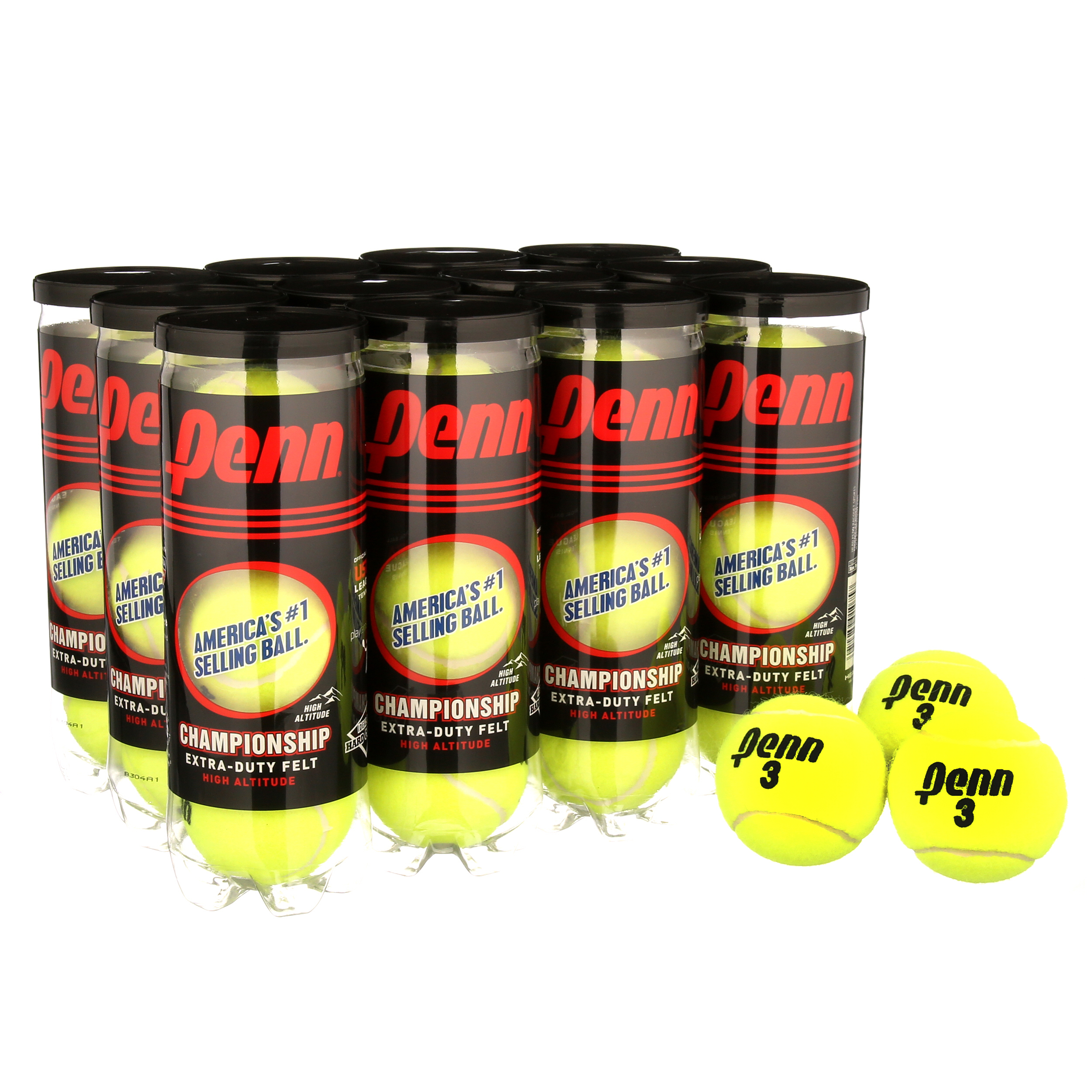 3 Count per Can Penn Championship Extra-Duty Felt Tennis Balls Can