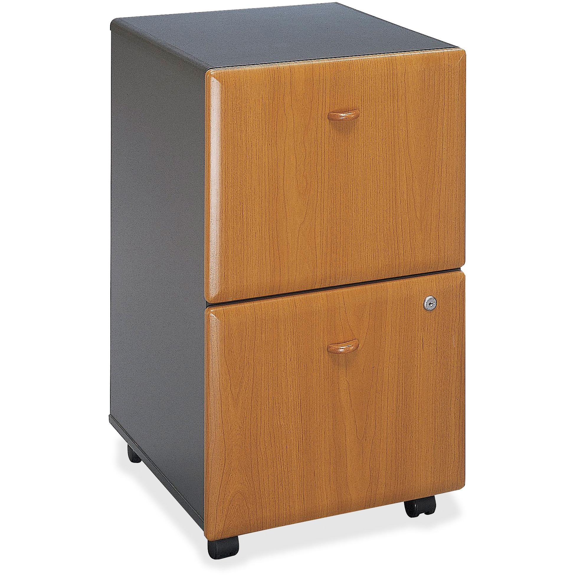 Bush 2 Drawers Vertical Lockable Filing Cabinet, Cherry