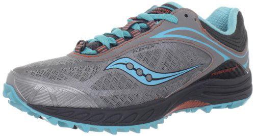 Saucony Women's Peregrine 3 Running Shoe,Grey Blue Orange,6 M US by Saucony Running Footwear