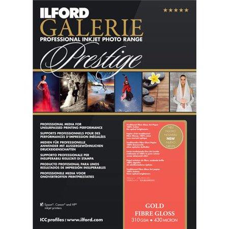 Ilford Galerie Prestige Gold Fiber Gloss Photo InkJet Paper, 310 gsm, 17 mil, 13x19