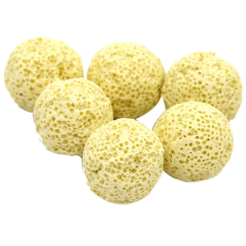 Tuscom 50Pcs Aquarium Porous Ceramic Filter Media Net Bag Biological Ball Fish Tank
