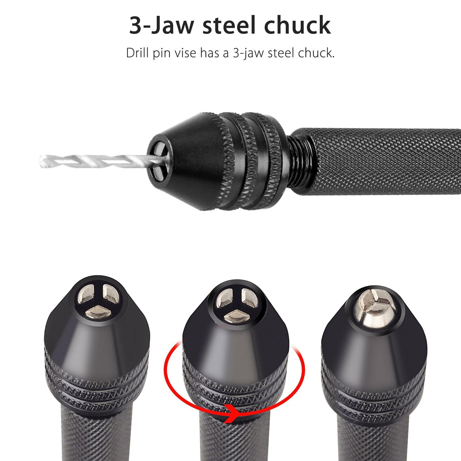10x Alloy Precision Pin Vise Spiral Drill Hand Drill Micro Precision