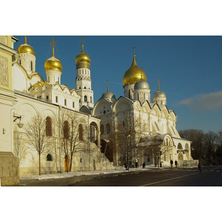 Canvas Print Moscow Orthodox Kremlin Bulbs Cathedral Stretched Canvas 10 x 14