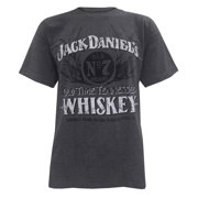 Jack Daniels Mens Heather Charcoal Old Time Whiskey T-Shirt Tee. 15261487JD-79