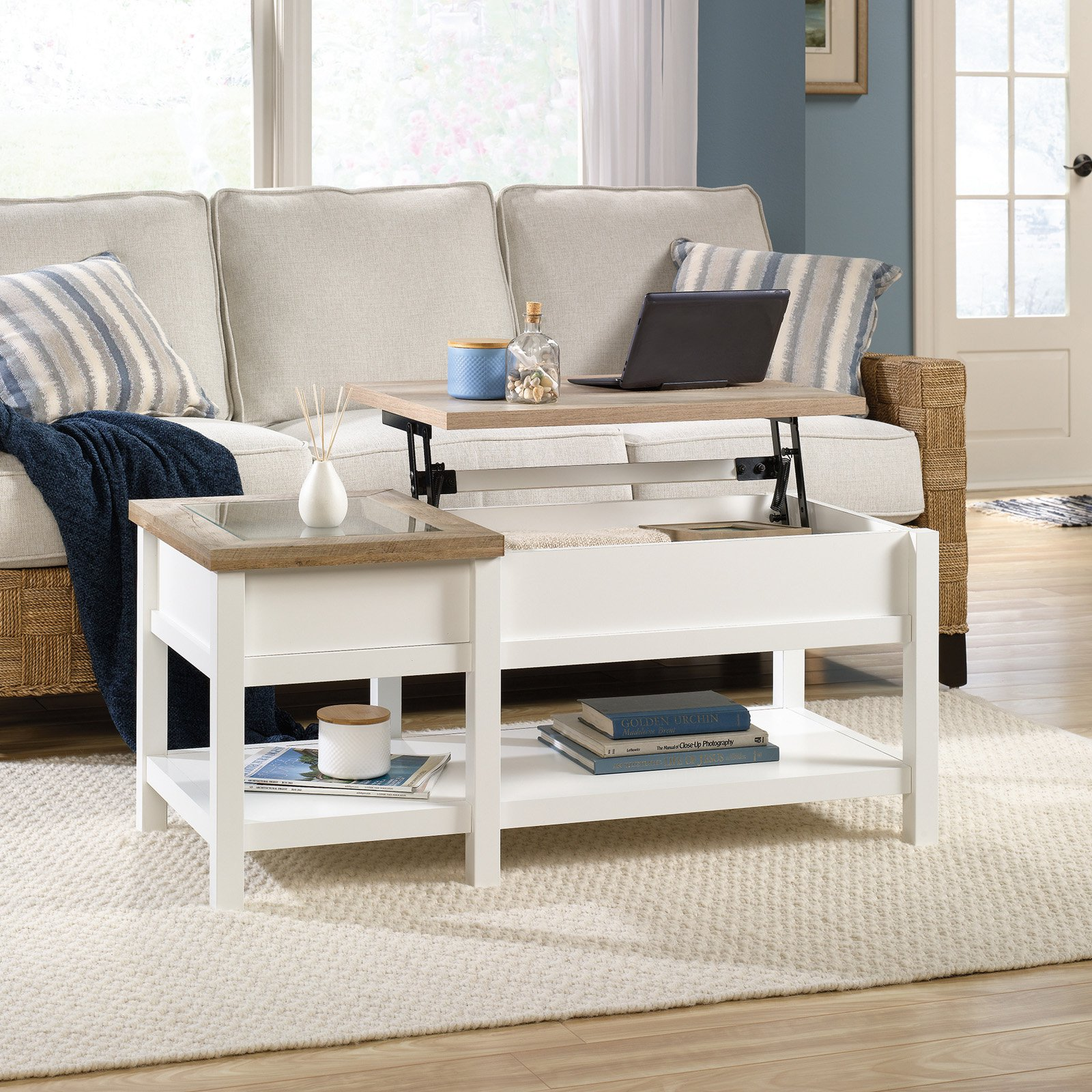 Charmant Sauder Cottage Road Lift Top Coffee Table, Soft White Finish   Walmart.com