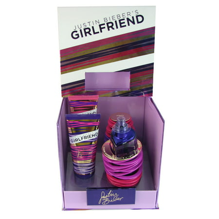 Justin Bieber Girlfriend 3 Pc Gift Set For Women 3 4 Oz Edp