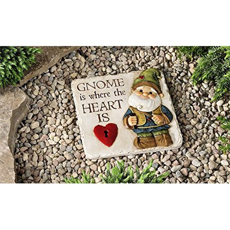 Fairy Craft (Giftcraft stepping stones, Fairy and Gnome Designs (Gnome), Sizes; Fairy: 9.1