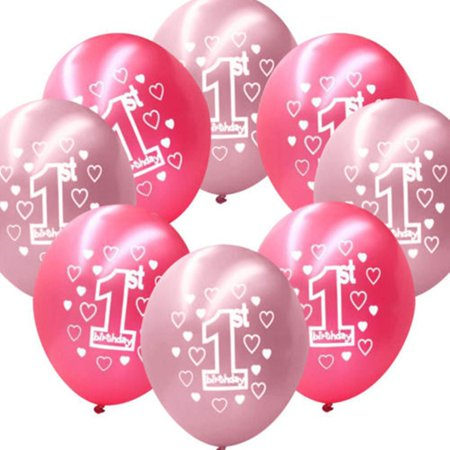 New Baby Boys and Girls Age 1 and Age 2 Latex Party Birthday Decorative Ballons - Girl Party Themes Age 2