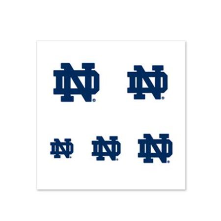 Notre Dame Fighting Irish Fingernail Tattoos - 4 Pack (Irish Flag Tattoos)