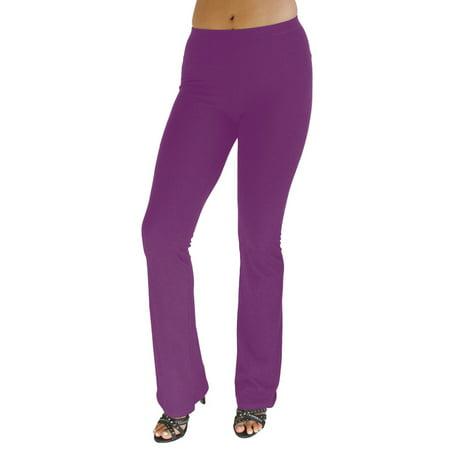 Vivian's Fashions Flare Bottom Pants, Junior Size (Purple,