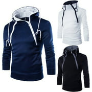 Men Womens Hooded Sweatshirt Coat Plain Design Hoodie Blank Pullover Hoody