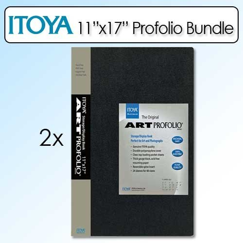 Itoya 11X17 Inch Art Size 24 Sheet Art Profolio Portrait 2 Pack
