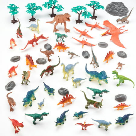Adventure Force 55-Piece Jumbo Bucket Play Set, Dinosaurs