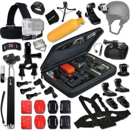 Xtech Travel and Hiking Accessories Kit for for GoPro HERO4 Session, Hero 4, 2, 1, Hero 4 Silver, Hero 4 Black, Hero 3, Hero3+, Hero 3 Silver, Hero 3 Black ( 21 (Best Deal On Gopro Hero 4)