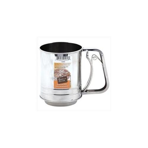 Baker's Secret 3-Cup Stainless Steel Sifter by World Kitchen