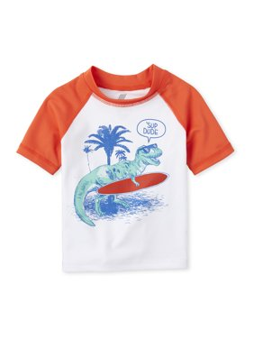 The Children's Place Baby Toddler Boy Dino Swim Rashguard