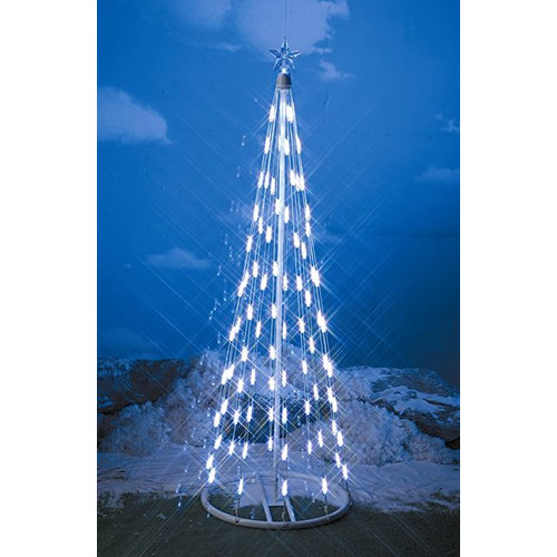Homebrite Solar String Light Cone Tree Christmas Decoration with White Lights