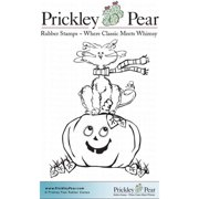 Prickley Pear Cling Stamps 3.25 Inch X 3.25 Inch-Halloween Scribbl