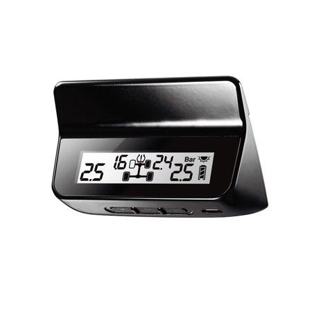 Steelmate ET-640AE DIY TPMS Car Tire Pressure Monitoring System with LCD Display 4 Valve-cap Sensors Bar PSI -