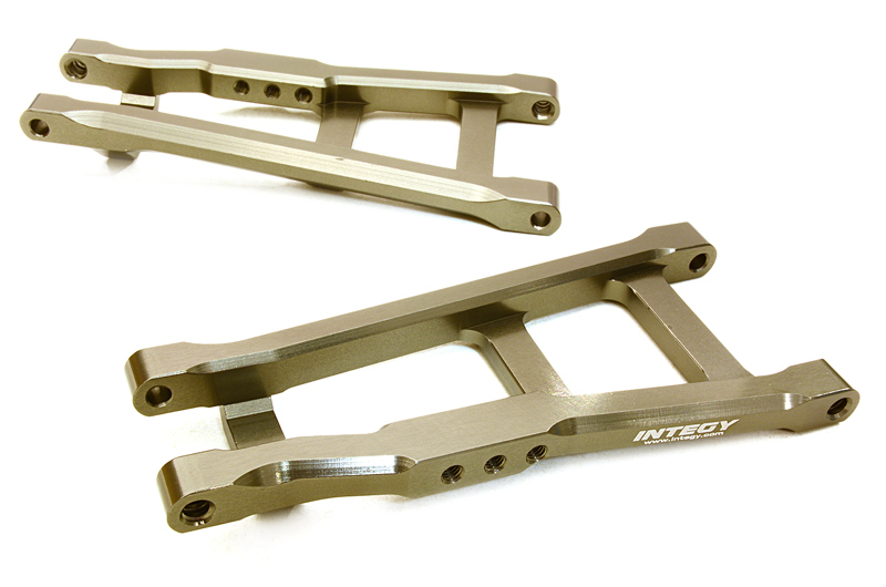 Integy RC Toy Model Hop-ups C27080GREY Billet Machined Rear Lower Arms for Traxxas 1 10... by Integy