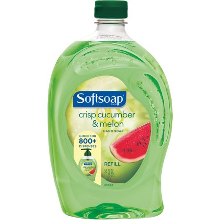 Softsoap Crisp Cucumber & Melon Liquid Hand Soap Refill, 56 fl oz