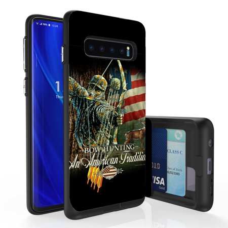 Galaxy S10 Case, PimpCase Slim Wallet Case + Dual Layer Card Holder For Samsung Galaxy S10 [NOT S10e OR S10+] (Released 2019) Bow