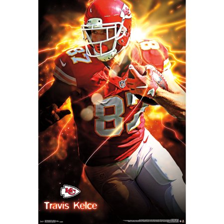 Kansas City Chiefs Travis Kelce Football Sports Poster 22x34 (Football Poster Ideas)