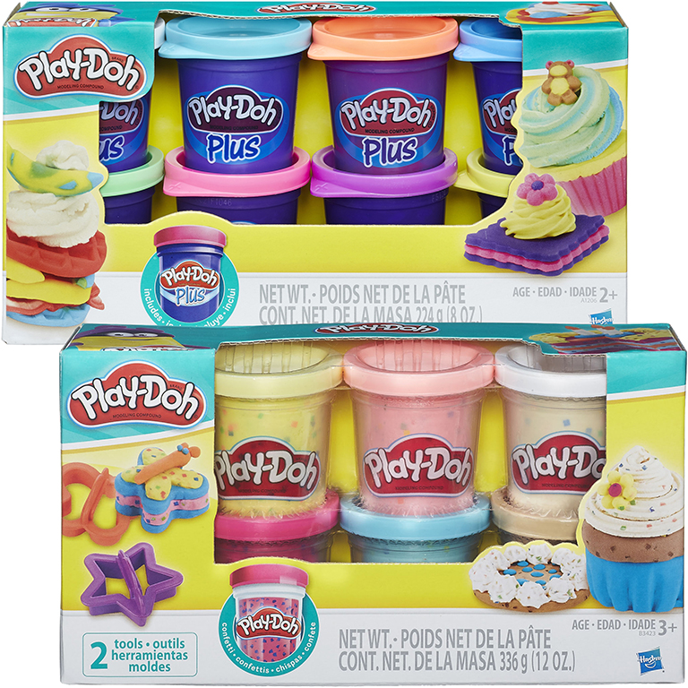 Play-doh Plus Variety Pack + Confetti Compound Collection