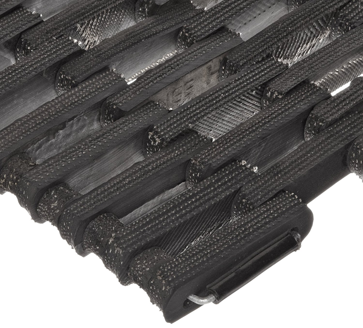 Durable Corporation 108 Recycled Tire-Link Anti-Fatigue Mat, for Wet Areas, Straight Weave, 14' Width x 22' Length x 5/8' Thickness, Black