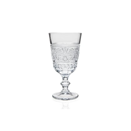 Renaissance 8 oz. Clear Crystal Wine Drinking Goblets Glasses Drinkware, Set of 12