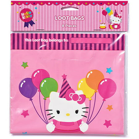 Hello Kitty Treat Bags Pack Of 8 Party Supplies Walmart Com